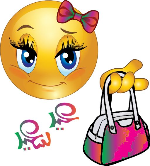 Cute Girl Smiley Faces   Cute Girl Feast Bag Smiley Emoticon Clipart - Royalty Free Public ...