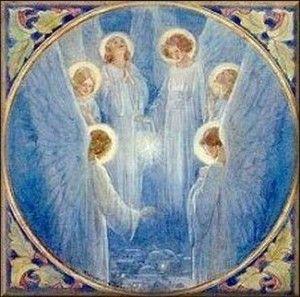 seraphim | seraphim angels circle around the source