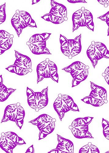 'Mollycats' Metal Print @displate  #cats #design #creative #pattern #animals #cat #pets #cute #sweet #white #wallart #kids #catseyes #displate #metalprints #humourous #happy #smiles #fun #magenta