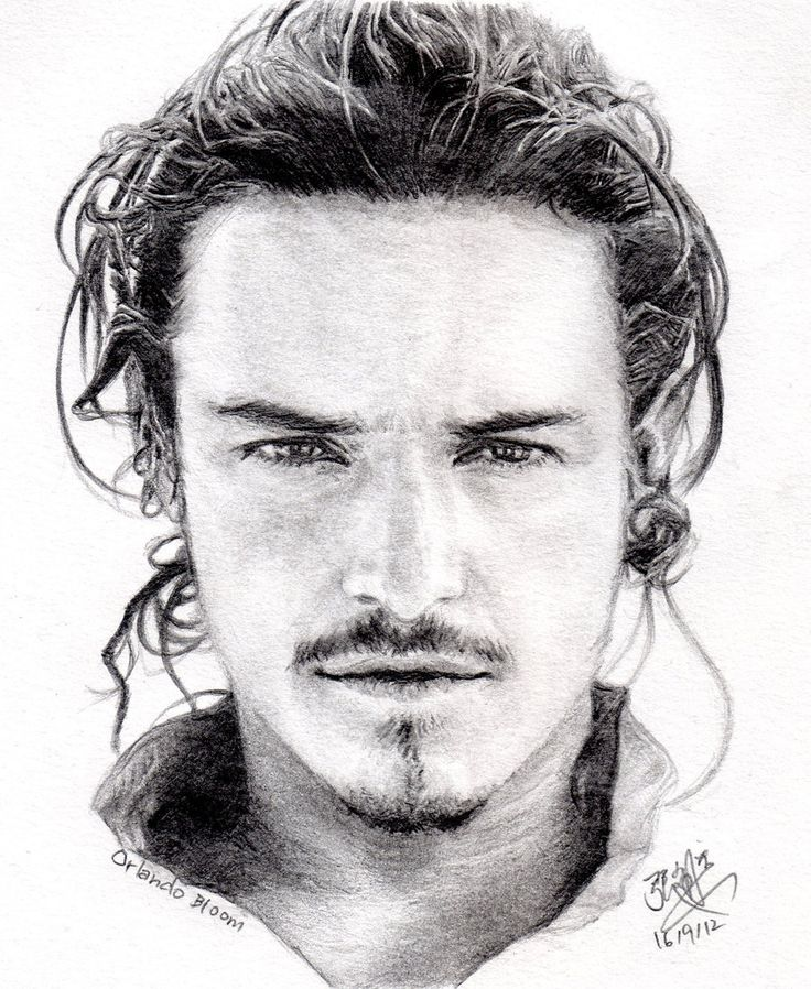 David chong pencil portrait of orlando bloom by chaseroflight
