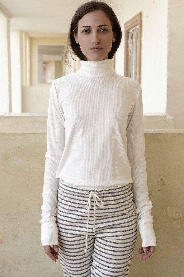 By Signe - organic cotton rib blouse - Made in Denmark