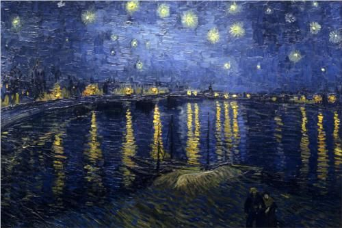 """The less famous of Vincent van Gogh's two """"The Starry Night"""" paintings"""