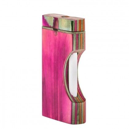 Multicolored Wooden Dugout Pipe - http://honeycombbong.com/multicolored-wooden-dugout-pipe/