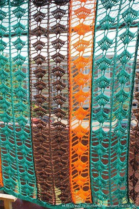Materiales gráficos Gaby: Cortina crochet