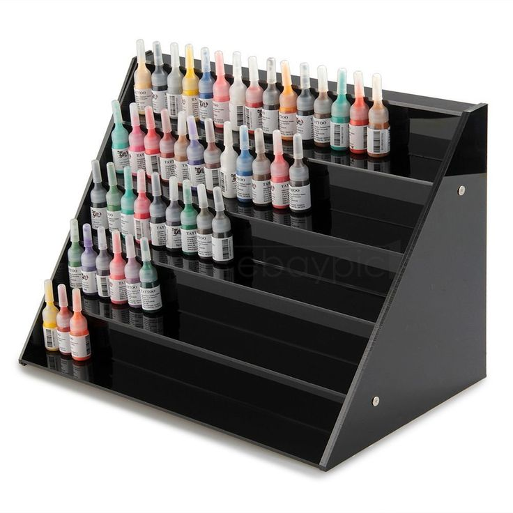 Acrylic 5 Tier Tattoo Ink Nail Polish Display Stand Rack Organizer Holder Black Vape Ideas