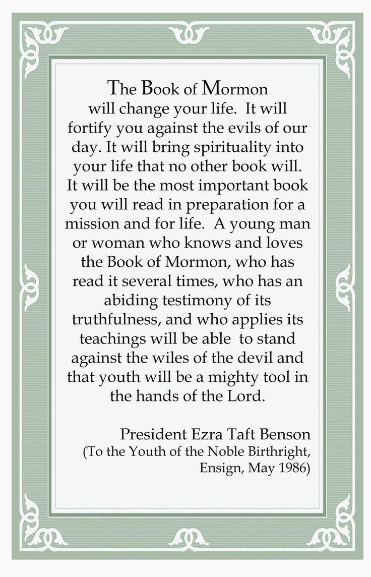 Beehive Messages: Book of Mormon Challenge