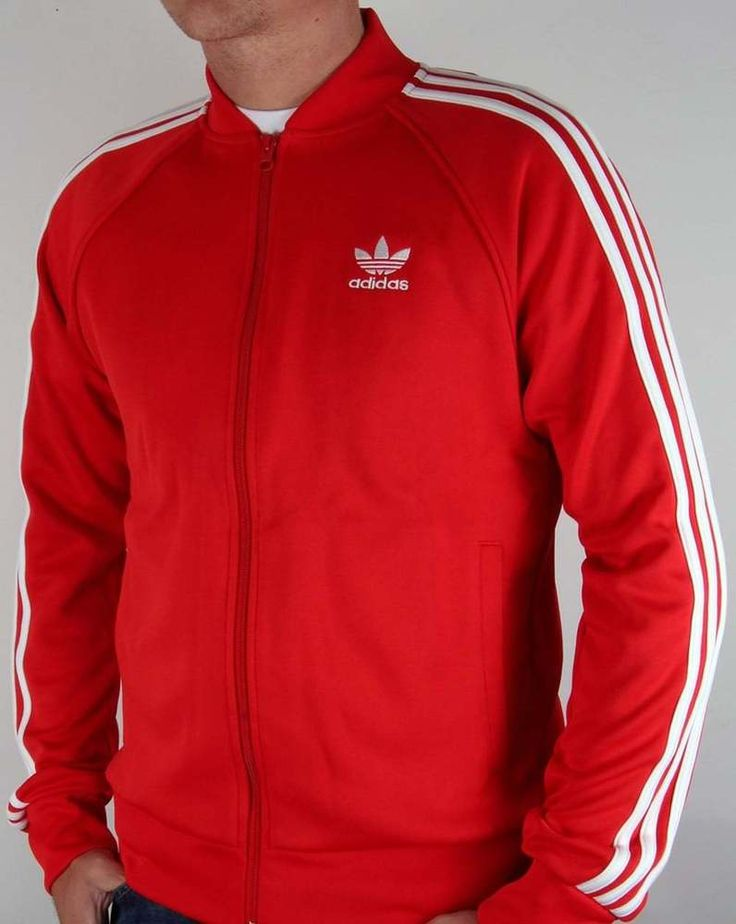 Adidas Originals Adidas Superstar Track Top in Vivid Red - tracksuit jacket  #adidas #Tracksuit