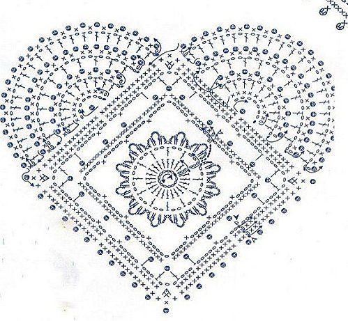 Solo esquemas y diseños de crochet: MAS CORAZONES