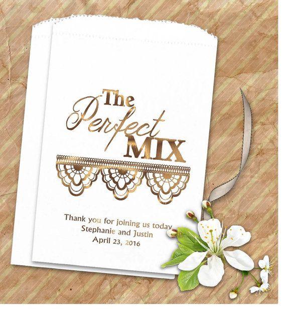 Personalized Trail Mix Bags wedding - Trail Mix Bar ideas - rustic wedding - country wedding - trail mix buffet
