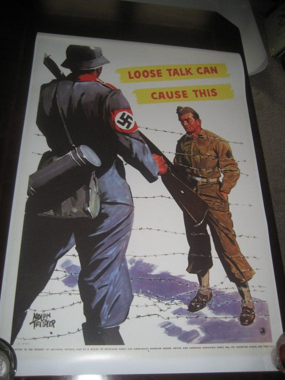 WW2 Propaganda Poster Repro Loose Talk Can Cause This by NathanHM