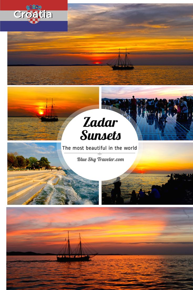Zadar Sunsets - The most beautiful in the world said by Alfred Hitchcock in 1964. And I agree