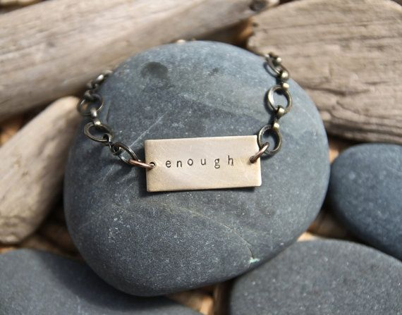You are enough (yes, you) :: customizable Soul Mantra bracelet