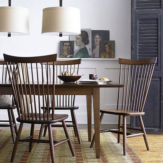 Classic Windsor chairs. Love the simplicity.