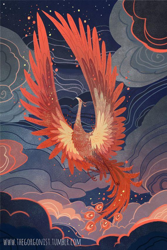 Phoenix voor de nacht 12 x 18 art poster afdrukken