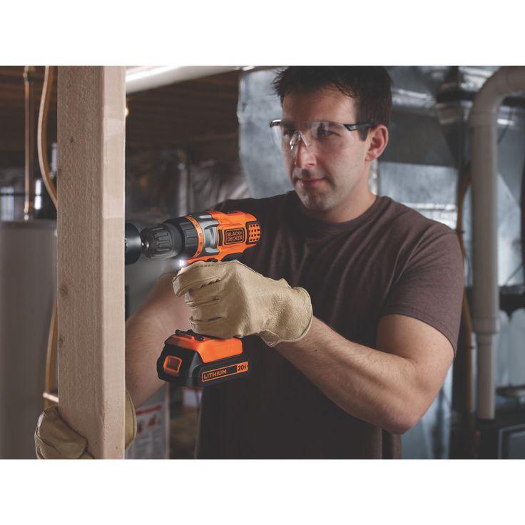 Taladro inalámbrico con control preciso para taladrar en madera. metal y plástico.