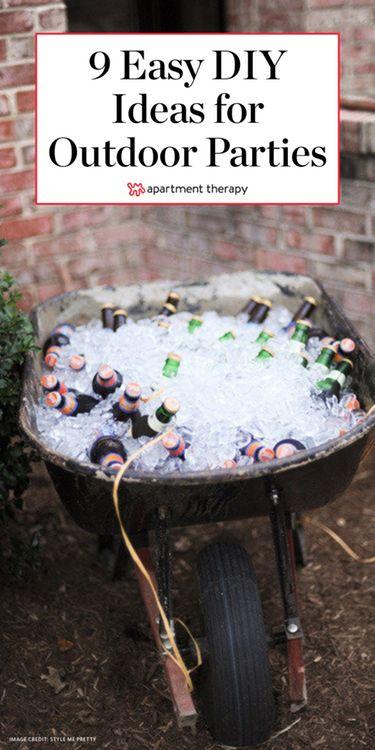 9 einfache DIY-Ideen für Ihre nächste Outdoor-Party