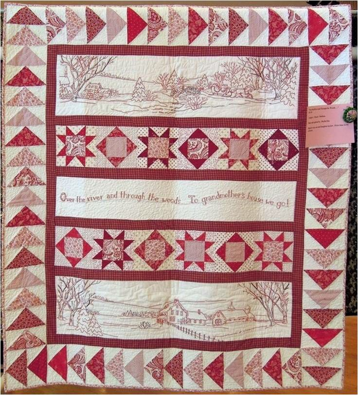 """Over the River and Through the Woods"" by Phyllis Day, photo by Quilt Inspiration"