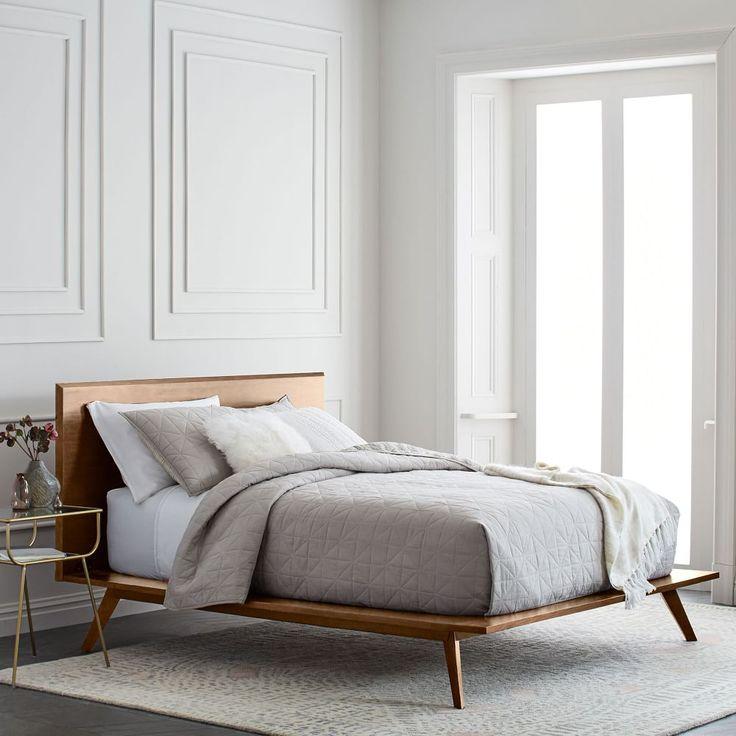 Best Mid Century Platform Bed Queen Walnut At West Elm Beds 640 x 480