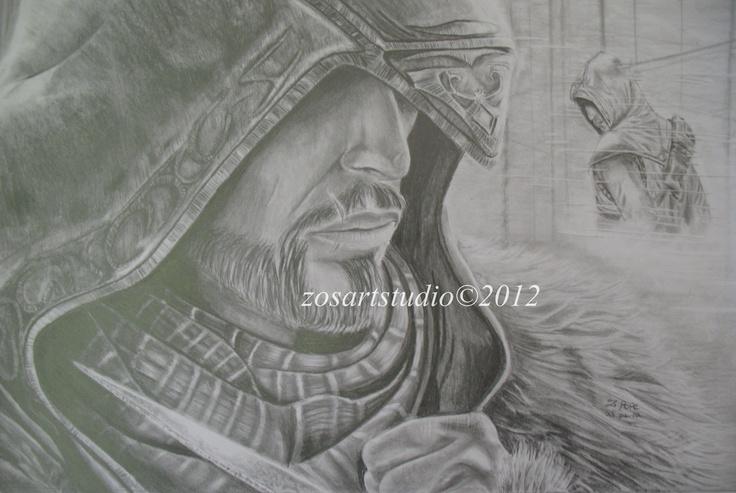 Assassins Creed Revelations pencil art 2012
