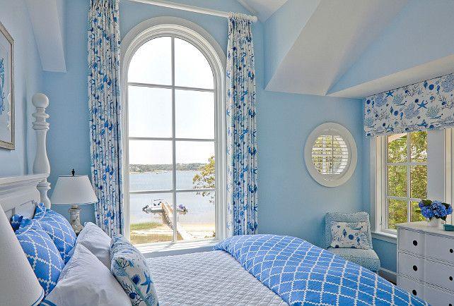 "Classic Shingle Coastal Home - ""Blue Master Bedroom"""