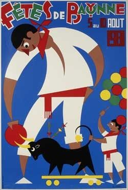 Affiche des fêtes de Bayonne en 1981