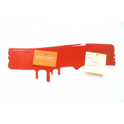Drip Magnetic Noticeboard by Headsprung! in Red | Forever Contemporary