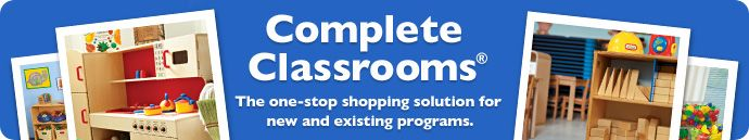 Complete Classrooms® from Lakeshore Learning: Customized catalogs to help align your classroom to early learning standards, the Environment Rating Scales and the Head Start Child Development and Early Learning Framework.