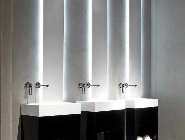 Les 25 meilleures id es de la cat gorie salles de bains for Eclairage salle de bain sans fenetre