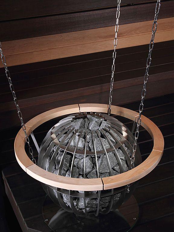 Very nice sauna heater design by Harvia: Globe