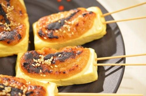 Tofu Dengaku. The lightly scorched aromatic miso enhances the taste of ...