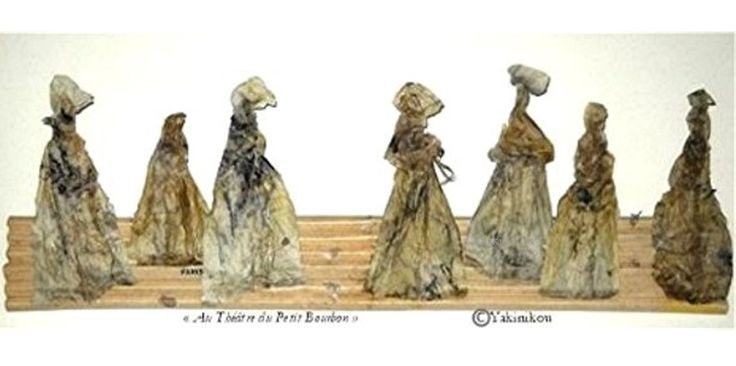 ART DU PAPIER - SCULPTURE Au théâtre du petit Bourbon  oeuvre en papier de soie