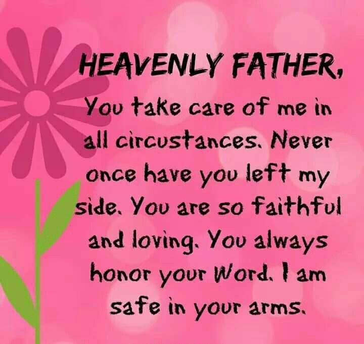 Thank you God for always taking care of me!