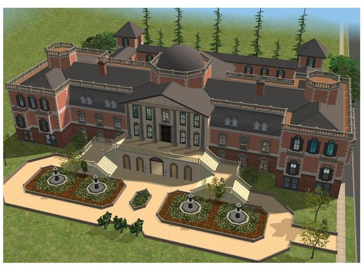 Sims 2 Luxury Mansion By RamboRocky Homes And