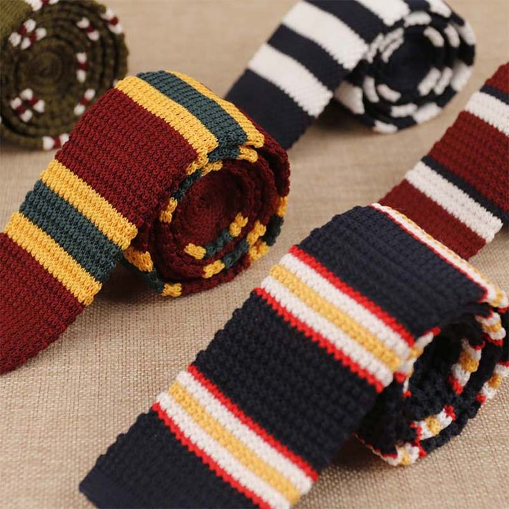 New Arrival Apparel Knitting Tie Necktie Cravata Brand Popular Business Suits Men's Tie For Wedding Classic Striped Ties Cravats
