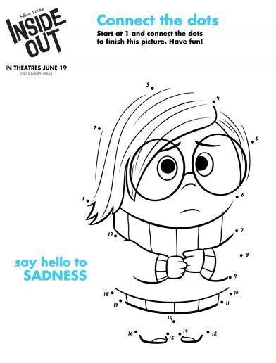 inside out sadness connect the dots printables
