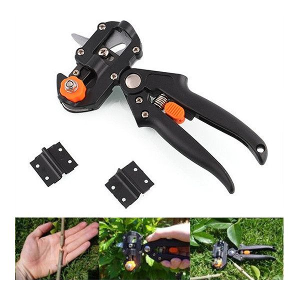Tool with 2 Blades Professional Pruning Shear Grafting Cutting. Description :   Professional Fruit Tree Pruning Shear Grafting Cutting Tool with 2 Blades  Features :   Rootstock and scion it is easy to match the U-cut, V-cut or -cut, rapid healing. Using easily and fastly. Grafting method than the traditional savings the time and effort. Blade can be replaced. Use the pruner to cut useless branches from the plant.  How to use :  Step 1 : Hold the grafting stock in the grafting tool and…