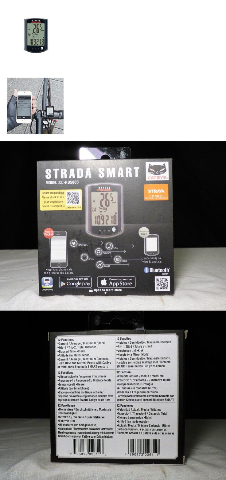 Cycle Computers and GPS 30108: Cateye Strada Smart Cycling Computer - Cc-Rd500b - Syncs With Cell! BUY IT NOW ONLY: $65.0