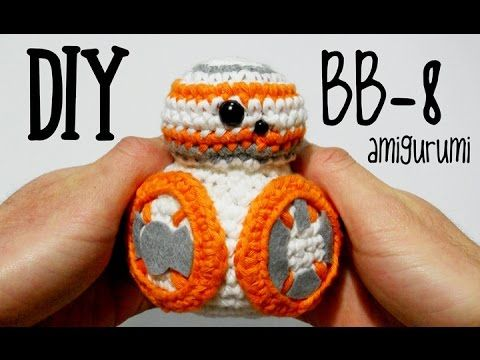 Tutorial amigurumi (crochet, ganchillo) de BB-8 de Star Wars