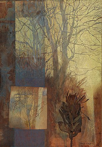 winter studio ~ oil on linen on board ~ by victoria crowe
