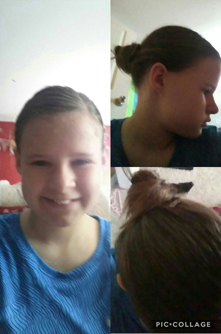 A very simple hair style. All I did was put my hair in a pony tale then did a normal bun shape and then pinned my hair with bobby pins