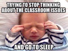 Teacher sleep - humor More