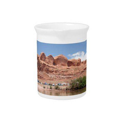 Colorado River Utah USA Drink Pitcher - kitchen gifts diy ideas decor special unique individual customized