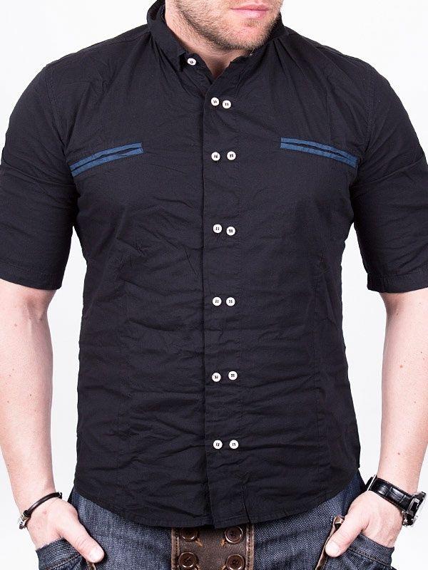Fashion Short Sleeve Shirt - Black