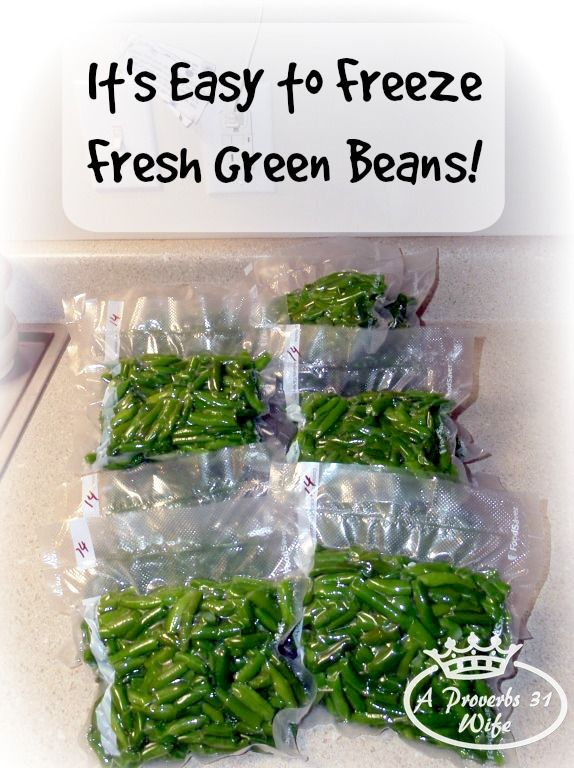 How to freeze fresh green beans. Easy to do, no special tools needed, freezing is a great way to put up beans. Plus the best way to fix frozen green beans.