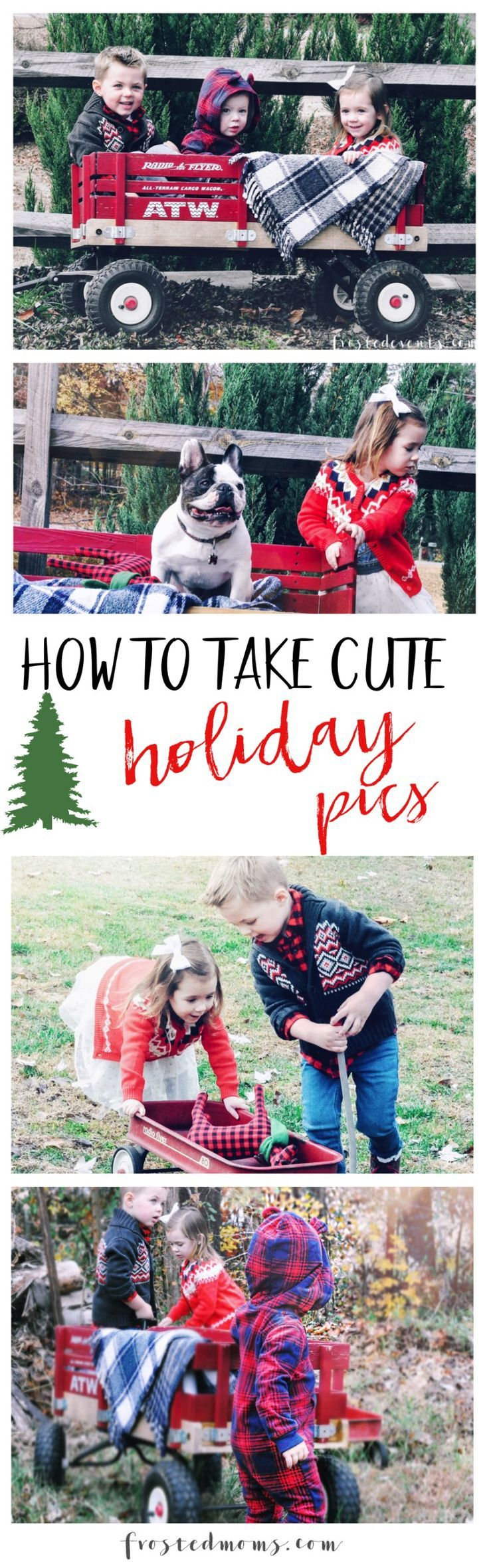 Family Christmas Picture ideas-- How to snap cute holiday pics of your kids. Secrets from how to style holiday outfits with @OshKoshBgosh to how to capture the perfect pic for your family Christmas card--- via Misty Nelson /frostedevents/ #BGoshBelieve ad