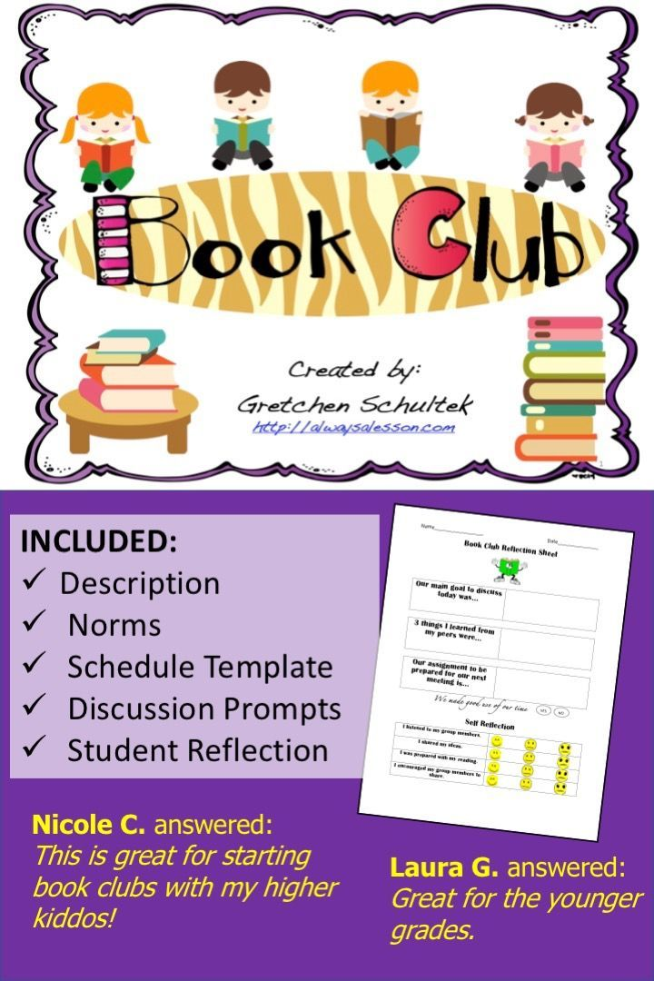 Introduce The Concept Of Book Club To Your Students So That They Can Have Rich Literacy Discussions Book Clubs Elementary Teaching Third Grade Book Club Books
