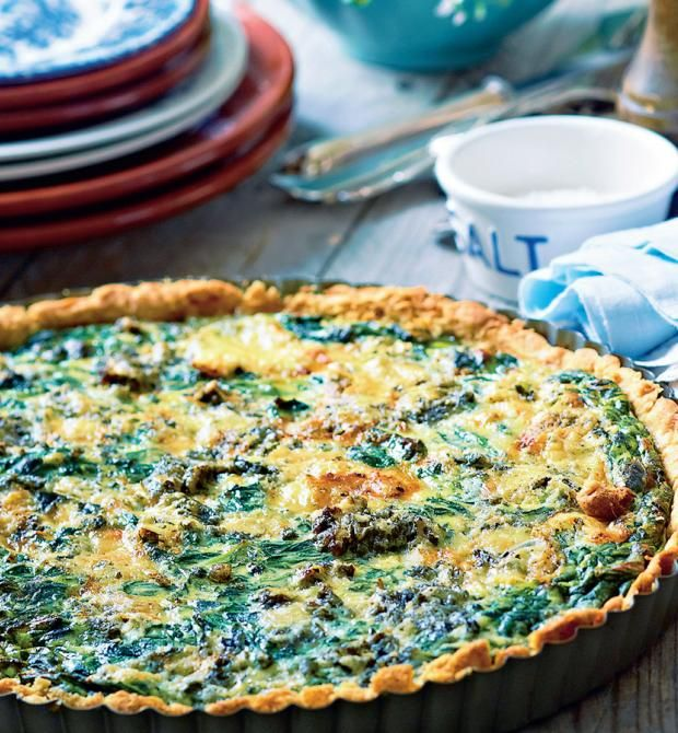 Opskrift: Lækker spinattærte med ricotta