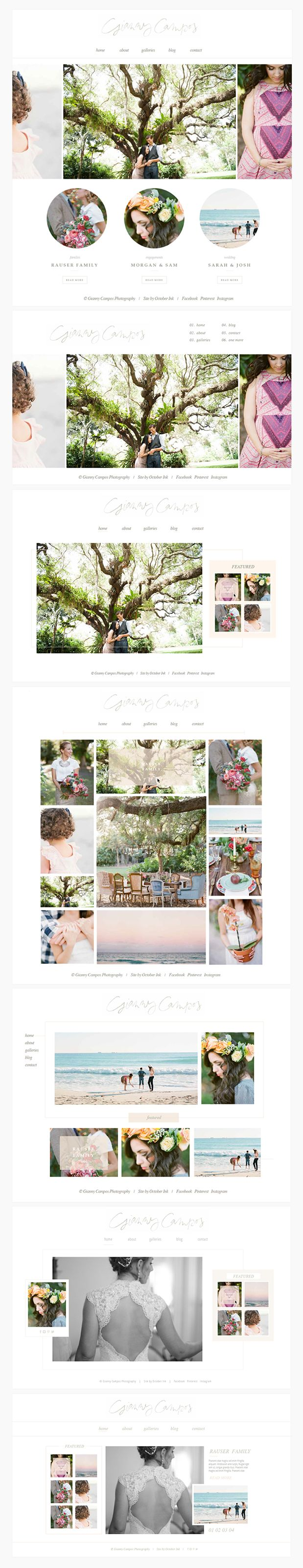 Gianny Campos Branding and Website Design from October Ink
