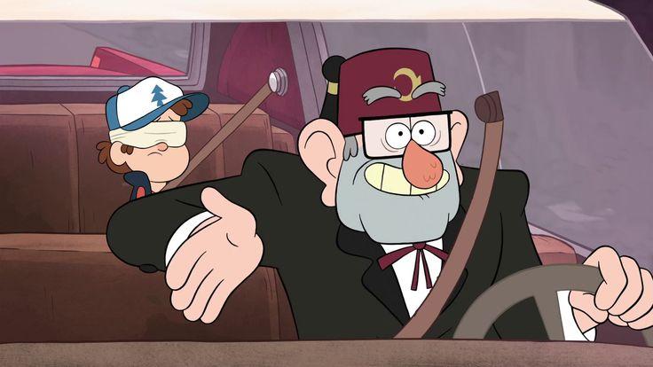 """Stanford """"Tío Stan"""" Pines12 (voz por Alex Hirsch). Es el tío abuelo de Dipper y Mabel y dueño y residente de """"La Cabaña del Misterio"""", la cuál es una trampa para turistas, y la califica como """"el museo más extraño del mundo""""."""