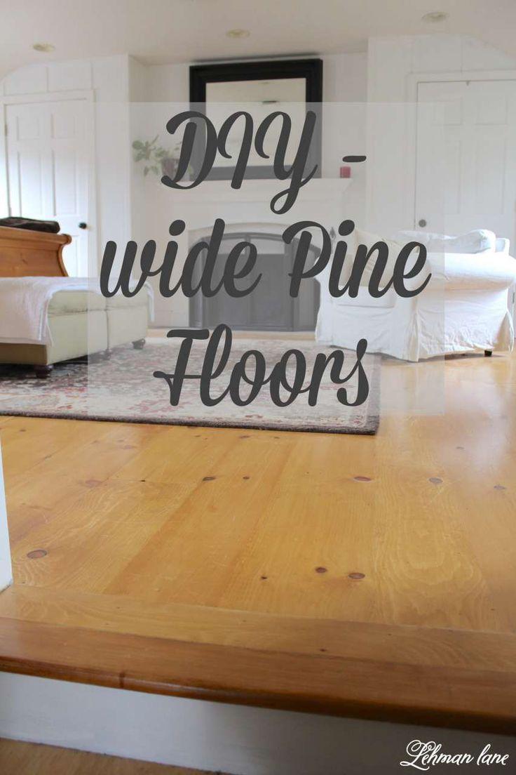 DIY Unfinished Wide Pine Floors & Review - Lehman Lane